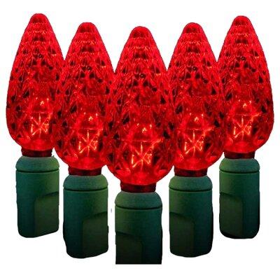 70 Light LED String Light Bulb Color: Red