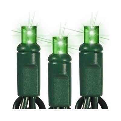 35 Light LED String Light Bulb Color: Green