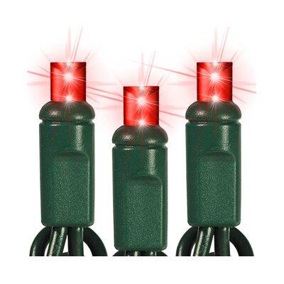 35 Light LED String Light Bulb Color: Red