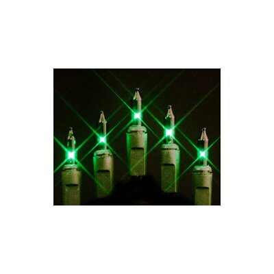 50 Mini String Light Bulb Color: Green