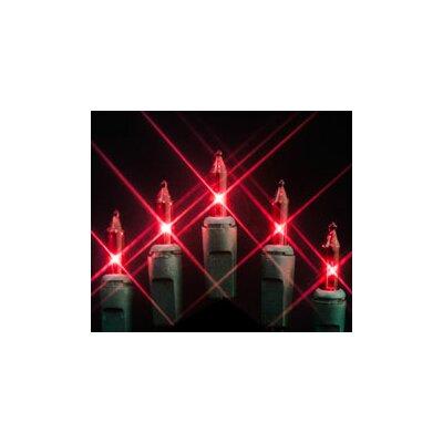 50 Mini String Light Bulb Color: Red