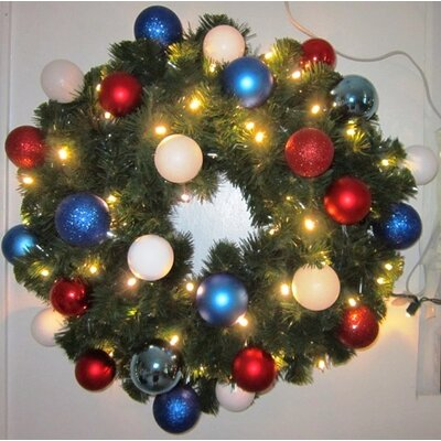 "Queens of Christmas Pre-Lit Sequoia Wreath Decorated with Ornaments - Size: 72"" at Sears.com"