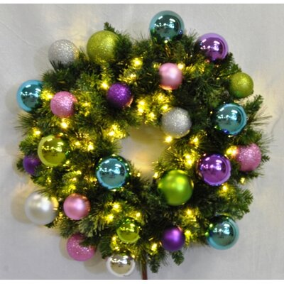 "Queens of Christmas Pre-Lit Blended Pine Wreath Decorated with Victorian Ornament - Size: 48"" at Sears.com"