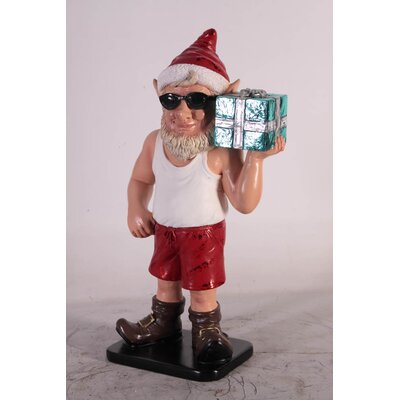 Elf Figurine with Gift