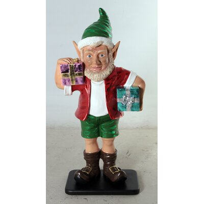 Elf Figurine with 2 Gift Package Size: 36