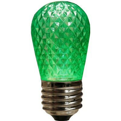 3.2W LED Light Bulb (Set of 4) Bulb Color: Green