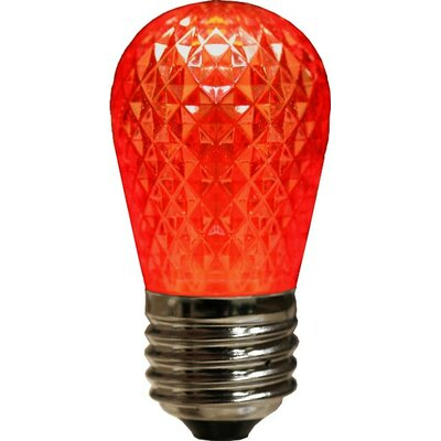 3.2W LED Light Bulb (Set of 4) Bulb Color: Red