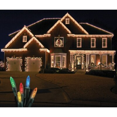 70 Light LED Icicle Light Bulb Color: Multi / Green