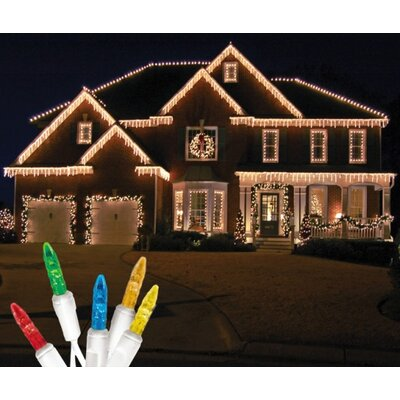 70 Light LED Icicle Light Bulb Color: Multi / White