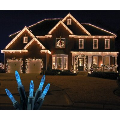 70 Light LED Icicle Light Bulb Color: Blue / Green