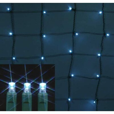 108 Light LED Net Light Bulb Color: Pure White, Twinkle: Non - Twinkle