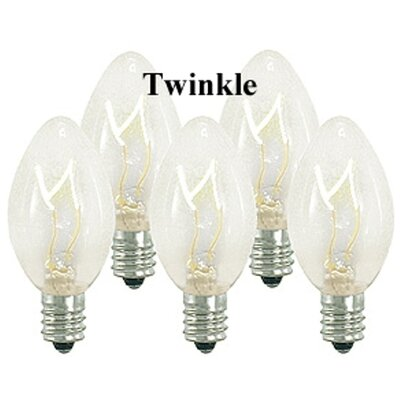 5W Light Bulb (Pack of 25) (Set of 2) Bulb Color: Clear