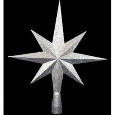 8 Point Star Tree Topper Color: Silver