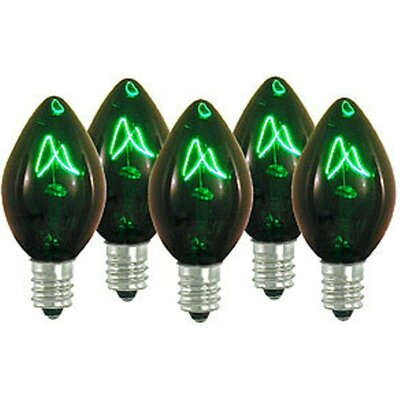 5W Light Bulb (Set of 25) Bulb Color: Green