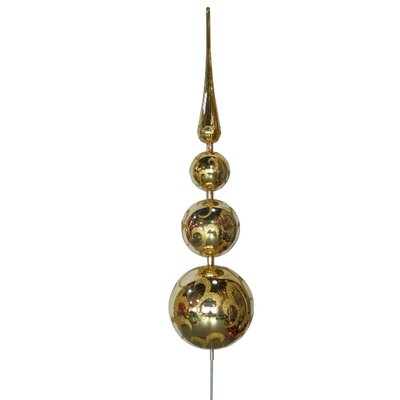 Tree Topper Ornament Color: Gold