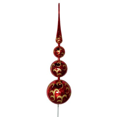 Tree Topper Ornament Color: Red