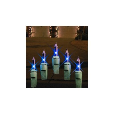 Incandescent Icicle Lights Bulb Color: Blue