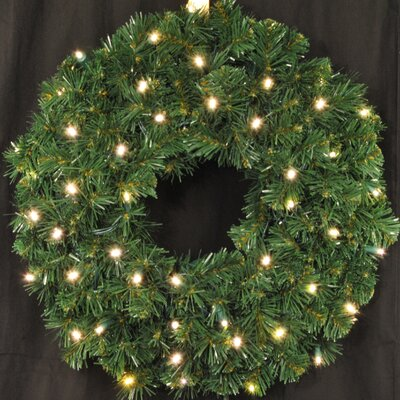 "Queens of Christmas Pre-Lit Battery Operated LED Sequoia Wreath - Size: 36"", Color: Warm White at Sears.com"