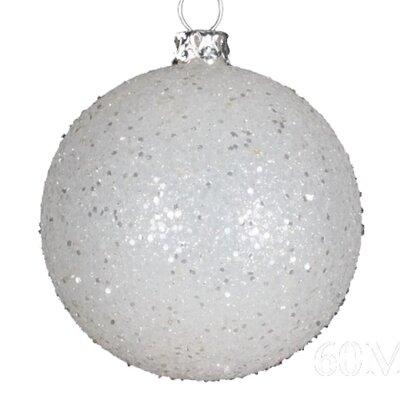 "Glitter Ball Ornament Size: 3.9"", Color: Aqua"