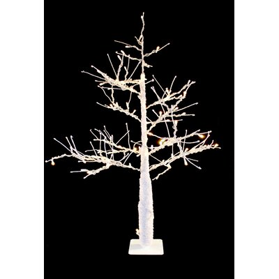 LED Tree Christmas Decoration Color: Brown, Bulb Color: Warm White