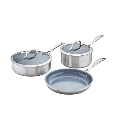 Spirit 5 Piece 3-Ply Non-Stick Stainless Steel Cookware Set 64080-005