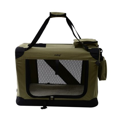 Portable Soft Pet Crate Size: Extra Large (25 H x 25 W x 36 L), Color: Sage Green