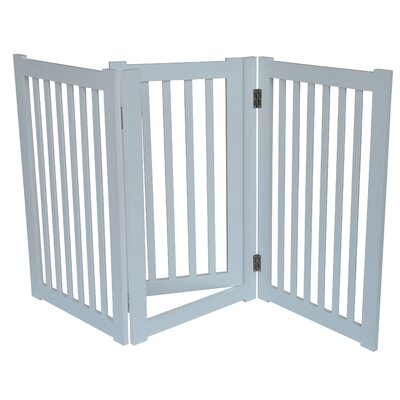 3 Panel Free Standing Pet Gate Finish: White