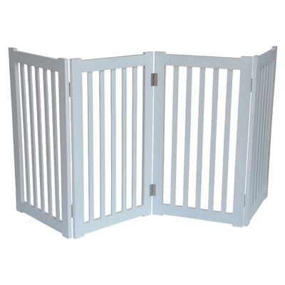 4 Panel Free Standing Pet Gate Finish: White