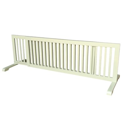 Free Standing Extra Wide Pet Gate Finish: Light Green