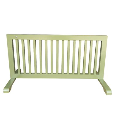 Free Standing Step Over Gate Finish: Woodbine