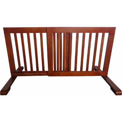 Free Standing Pet Gate Finish: Light Oak, Size: 20.1 H x 23.6 - 39.4 W x 21.6 D
