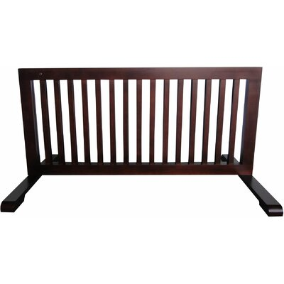 Free Standing Pet Gate Finish: Dark Walnut, Size: 20.1 H x 23.6 - 39.4 W x 21.6 D