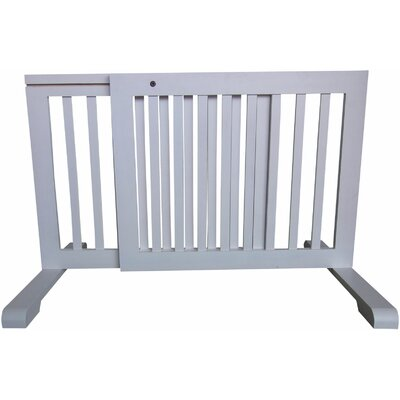 Free Standing Pet Gate Finish: White, Size: 20.1 H x 23.6 - 39.4 W x 21.6 D