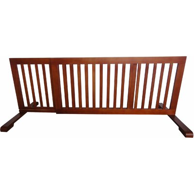 Free Standing Pet Gate Finish: Light Oak, Size: 20.1 H x 39.8 - 72 W x 21.6 D
