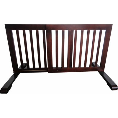 Free Standing Pet Gate Finish: Dark Walnut, Size: 20.1 H x 39.8 - 72 W x 21.6 D