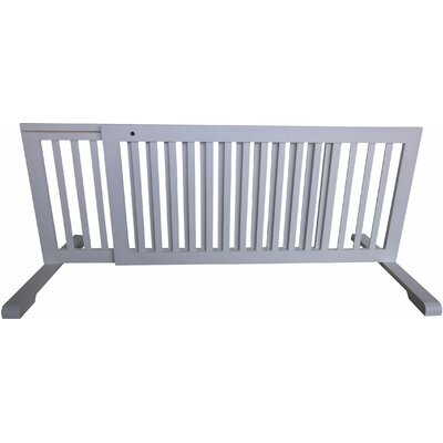 Free Standing Pet Gate Finish: White, Size: 20.1 H x 39.8 - 72 W x 21.6 D