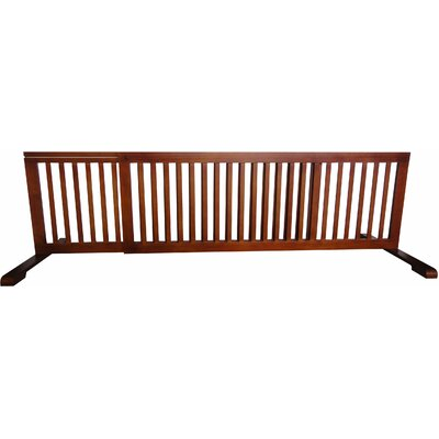 Free Standing Pet Gate Finish: Light Oak, Size: 20.1 H x 52 - 103 W x 21.6 D