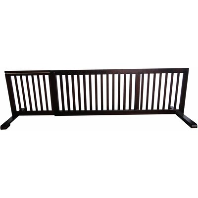 Free Standing Pet Gate Finish: Dark Walnut, Size: 20.1 H x 53 - 103 W x 21.6 D