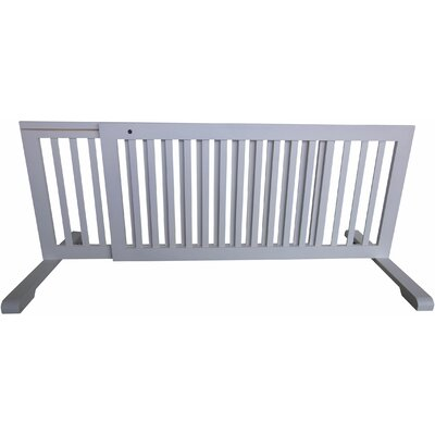 Free Standing Pet Gate Finish: White, Size: 20.1 H x 52 - 103 W x 21.6 D