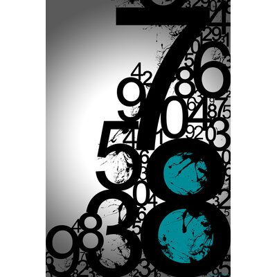 'Countdown' Numbers Graphic Art on Wrapped Canvas Size: 20