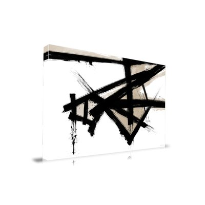 'Lines Of Life' Abstract Brush Graphic Art on Wrapped Canvas Size: 20