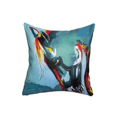 Blue Stallion Throw Pillow