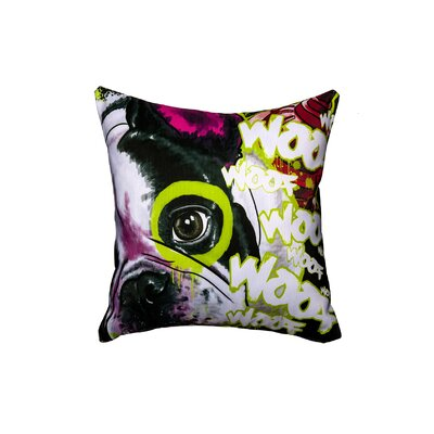 French Dog Throw Pillow