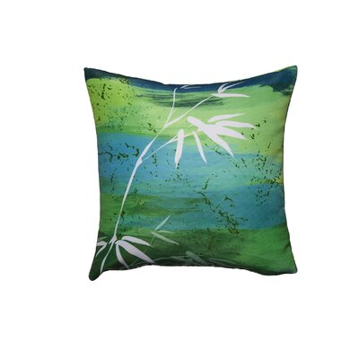 Osaka Green Throw Pillow
