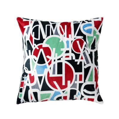 Letter Stack Throw Pillow