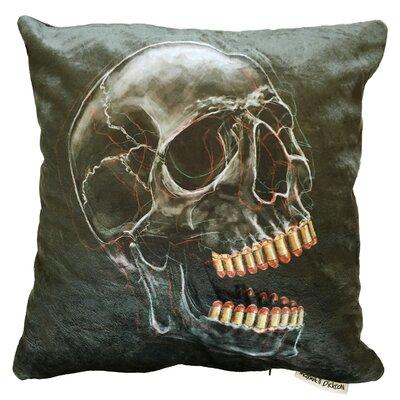 Bite the Bullet Throw Pillow Size: 18 H x 18 W x 5 D