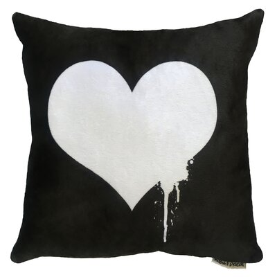 Heart Throw Pillow Size: 18 H x 18 W x 5 D