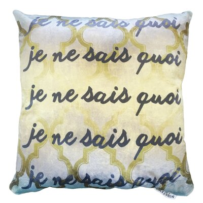 Undescribed Throw Pillow Size: 18 H x 18 W x 5 D