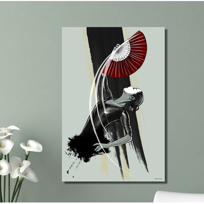 "'Fan Dancer' Painting Print on Wrapped Canvas Size: 20"" H x 16"" W x 1.5"" D FanDancer-16x20"