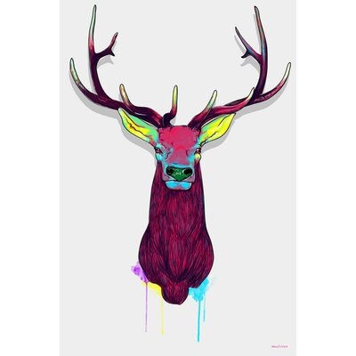 Elks Graphic Art on Canvas Size: 30